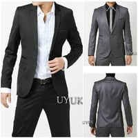 Slim Fit Men's Fashion Suit Blazer Jacket SOS