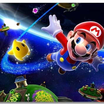 Super Mario party nes switch Custom Canvas Wall Decor  Galaxy Poster  Wall Sticker Office Decal Game Wallpaper Living Room Mural #0467# AT_80_8
