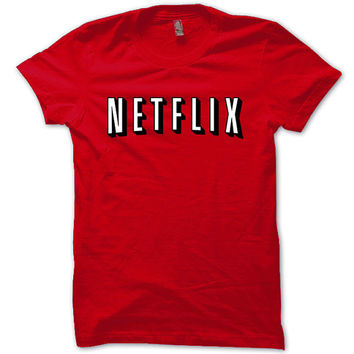 Netflix Shirt Netflix and Chill, TV, Movies, Orange Is The New Black T-Shirt Red Unisex T-Shirt Tee S,M,L,XL #2