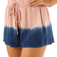 Lonely Hearts Shorts: Dusky Pink/Navy