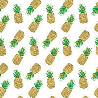 Pineapples - heatherdoucette - Spoonflower