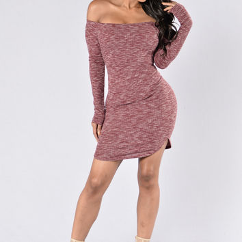 Fly Free Dress - Burgundy