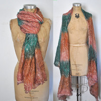 Gauzy Cotton Scarf / festival Indian / bandeau top