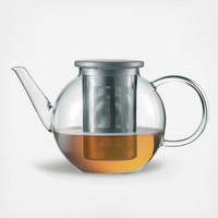 Good Mood Teapot with Stainless Steel Lid by Jenaer Glas on Zola