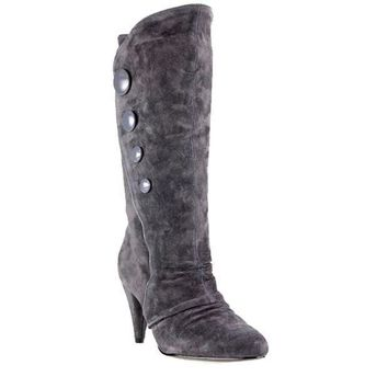 ESBONIG Chinese Laundry Kicky- Grey Knee-High Suede Boot