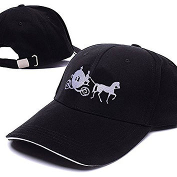 RHXING Cinderella Carriage Pumpkin Carriage Logo Adjustable Baseball Caps Unisex Snapback Embroidery Hats