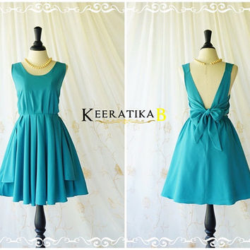 A Party V Charming Dress Peacock Blue Backless Dress Blue Prom Party Dress Dark Blue Wedding Bridesmaid Dresses Homecoming Dress XS-XL