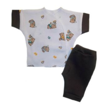Baby Boy Teddy Bear and Toys Shirt and Shorts Outfit