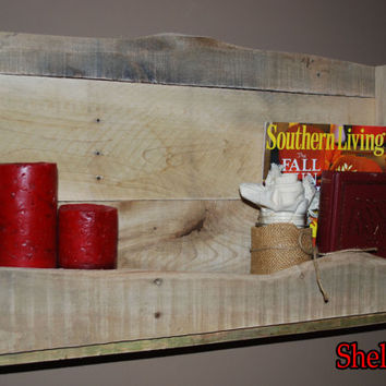 Reclaimed Wood Pallet Shelf/Wine Rack/Book Shelf