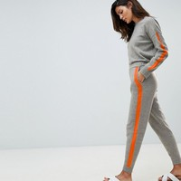 Micha Lounge Relaxed Joggers With Contrast Stripe Detail Co-Ord at asos.com