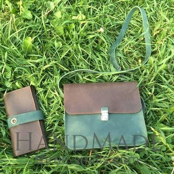 """Leather bags for womenand purses """"Two colors"""""""