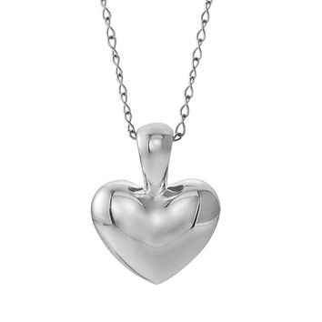 Youth Sterling Silver Small 8mm Heart Necklace, 15 Inch