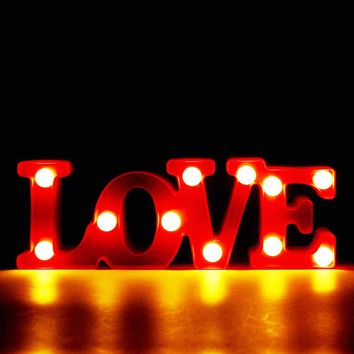 3D LOVE Marquee Letter LED Night Light