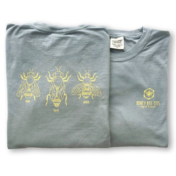Honey Bees Adult Long Sleeve Tee