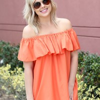 Sunshine + Whiskey Top: Orange