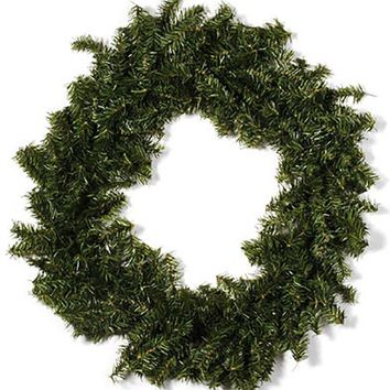 "Large Artificial Canadian Pine Winter Wreath - 30"" Wide"