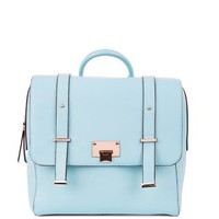 Turquoise Square Satchel Backpack