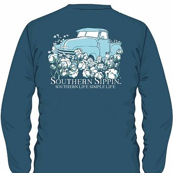 Southern Sippin Simple Life Pigment Dyed Unisex Pocket Long Sleeve T-Shirt