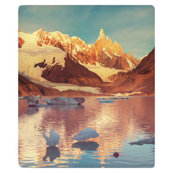 Cerro Torre in Patagonia Fleece Throw