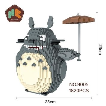 Super Mario party nes switch HC Big Size Blocks Totoro Mini Blocks Stitch Micro blocks  DIY Building Toys Juguetes  Model Kids Gifts 9005 AT_80_8