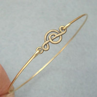 Musical Note Bangle Bracelet