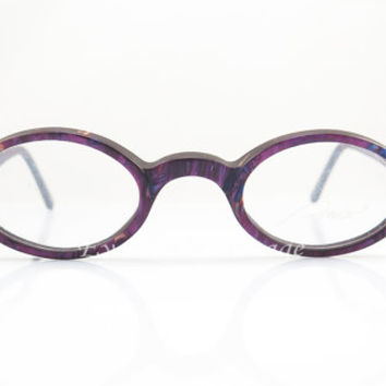 Vintage Eyeglasses , Amor France , Purple Mosaic , Oval , 1980s , Sunglass Frames  , New Old Stock