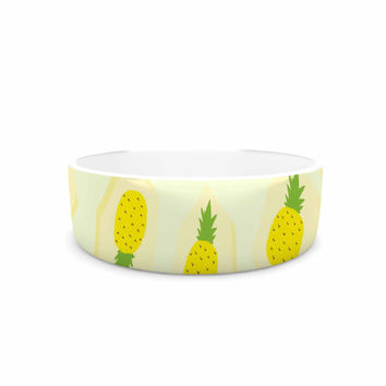 "Strawberringo ""Pineapple Pattern"" Yellow Fruit Pet Bowl"