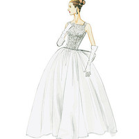 1950s Inspired Ball Gown Prom Dress Wedding by MissBettysAttic