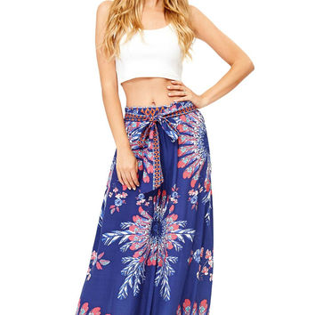 Feather Rotation Palazzo Pants