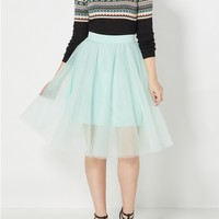 Mint Green Tulle Ballerina Skirt
