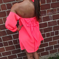 Neon Bow Dress | The Rage