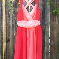 Dans L'amour Party Dress in Coral [2615] - $44.00 : Vintage Inspired Clothing & Affordable Summer Dresses, deloom | Modern. Vintage. Crafted.