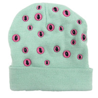 Mint Eyeball Beanie