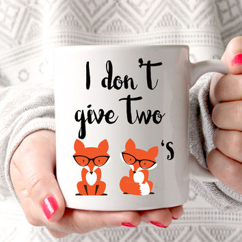 Two Foxes Coffee Mug, Funny Coffee Mug