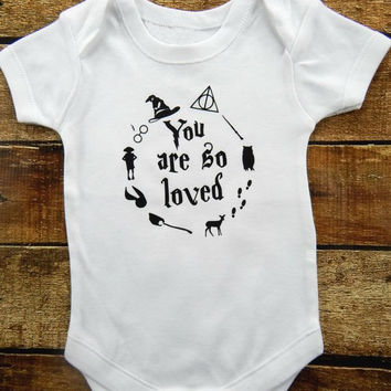 You are so loved, Harry Potter, HP, oneise, wizardinf world, hogwarts, disney, harry potter Onesuit, harry potter shirt, magical, wand,
