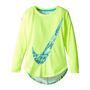 Nike Kids Dri-FIT Modern Long Sleeve Graphic Top (Toddler)