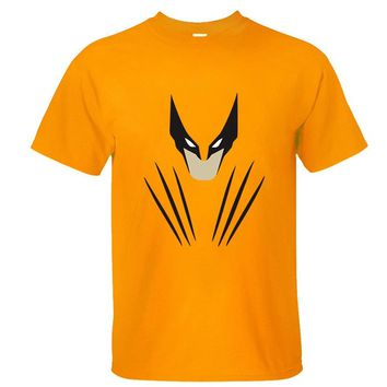 CRAZY POMELO Superhero Wolverine Cartoon Print Men's T-shirt