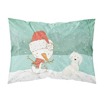 Maltese Snowman Christmas Fabric Standard Pillowcase CK2094PILLOWCASE