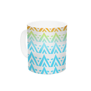 "Frederic Levy-Hadida ""Antilops Pattern"" Multicolor Chevron Ceramic Coffee Mug"