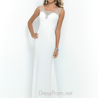 Royal Blue Blush Jersey Prom Dress 9982