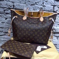 Louis Vuitton Monogram Neverfull Tote Bag w/Pochette (multiple colors and sizes available