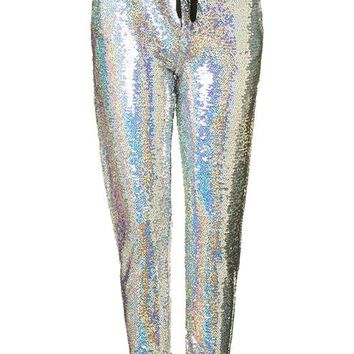 **Holographic Joggers by Glamorous Petites