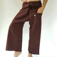 Chocolate color Thai fisherman/Yoga are pants Free-size: Will fit men or woman