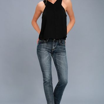 Party Time Black Sleeveless Top