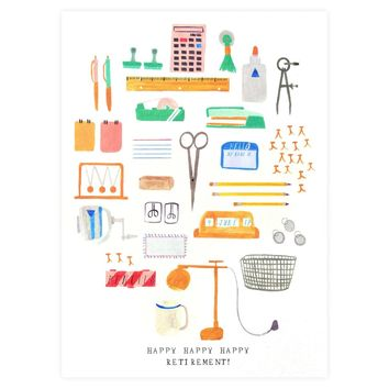 Office Supplies Retirement Greeting Card