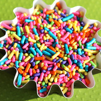 GIRLS Rainbow Jimmies Sprinkles for by thebakersconfections