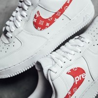 Nike x Louis Vuitton X Supreme Air Force 1 Low Help White Sport Shoe Sneakers I