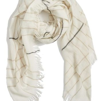 rag & bone Windowpane Check Wool Scarf | Nordstrom
