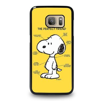 snoopy dog perfect friend samsung galaxy s7 case cover  number 1