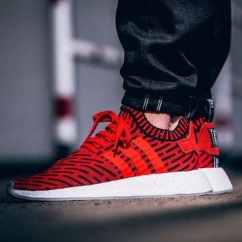 LMFUX5 Adidas NMD R2 Primeknit Blue BB2910 1 Boost Sport Running Shoes Classic Casual Shoes Sneakers